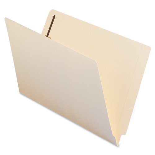 Smead End Tab Fastener File Folder, Shelf-Master® Reinforced Straight-Cut Tab, 1 Fastener, Legal Size, Manila, 50 per Box (37110)