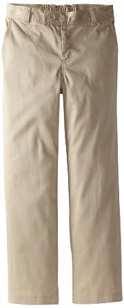 CLASSROOM Big Girls'  Plus-Size Stretch Trouser, Khaki, 20 Husky
