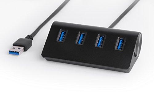 Sabrent Premium 4 Port Black Aluminum USB 3.0 Hub for iMac HB-MC3B 30 Cable MacBook MacBook Pro or Any PC Black Mac Mini MacBook Air