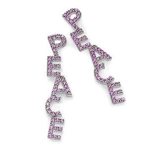 """Pink Sapphire """"Peace"""" Earrings"""