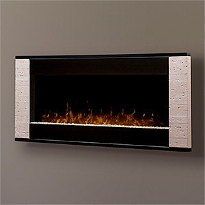Dimplex Strata Wall Mount Electric Fireplace In Travertine