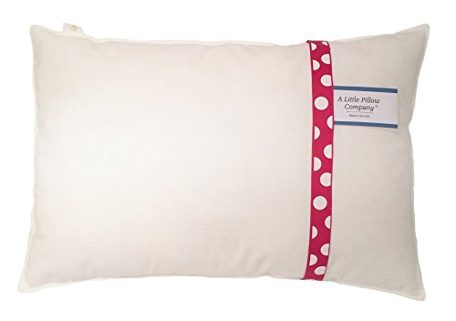 TODDLER PILLOW by A Little Pillow Company - Hypoallergenic - Double Stitched for Durability - Machine Washable - Made in Virginia Premium Product - Kids Love It!