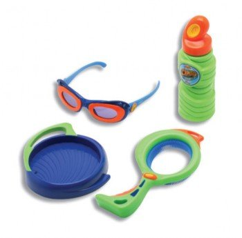 "Optrix 3-D ""Star"" Dip & Blow Bubble Set - Blue & Green - 1"