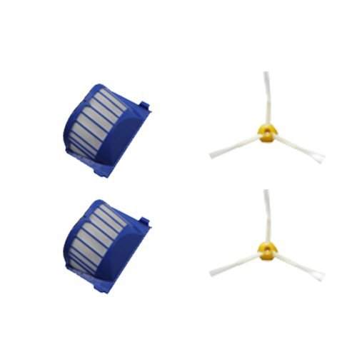 Cimc Llc 3 Arms Side Brush & Filter Replacement For Irobot Roomba 500 Series 550 560 Vacuum Cleaner Accessory Kit-2 Pack front-620666
