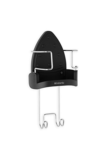 Brabantia Wall-Mounted Iron Rest and Hanging Ironing Board Holder - Cool Gray, 385742 (Ironing Board Brabantia compare prices)