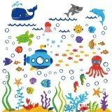CherryCreek Decals Under the Sea Submarine Nursery Wall Sticker Decals