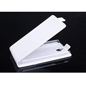 Flip Up And Down Leather Case Cover For HTC A11 Desire 51-White
