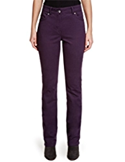 Per Una Roma Cotton Rich Straight Leg Trousers