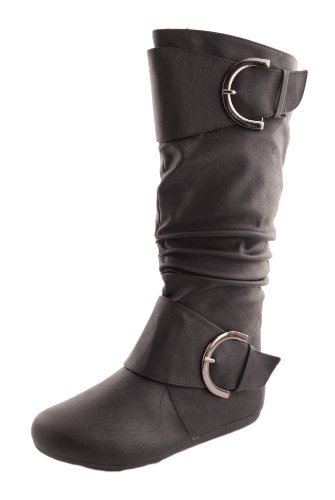 7d3cca12369 Womens Top Moda Bank-85 Knee-High Round Toe Slouch - Import It All