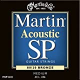 Martin MSP3200 13-56 acoustic medium 80/20 bronze guitar strings (2 packs)