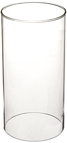 WGV Clear Glass Hurricane Candle Holder Vase, 8-Inch