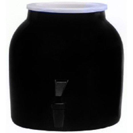Porcelain Water Crock 2.5 Gallon, Black (Ceramic Crock Water Dispenser compare prices)