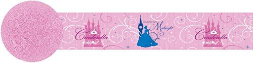 Amscan Disney's Cinderella Decorative Crepe Party Streamer, Pink, 30""