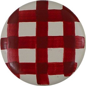 Just Gingham Knobs - Color: Rusty Red