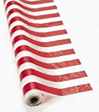 """Red & White Striped Tablecloth Roll - 100 Ft. X 40"""""""