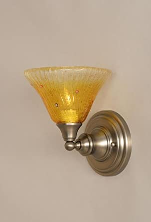 Wine Glass Wall Lights : Amazon.com: One Light Wall Sconce with Wine Crystal Glass Shade in Brushed Nickel: Home Improvement