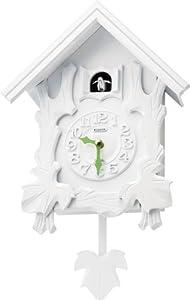 RHYTHM インテリア鳩掛時計 104 木枠 ホワイト 4MJ402RH03