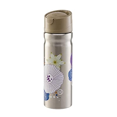 Stainless Steel Water Bottle - 28 oz Nouveau Flowers with Sip Lid