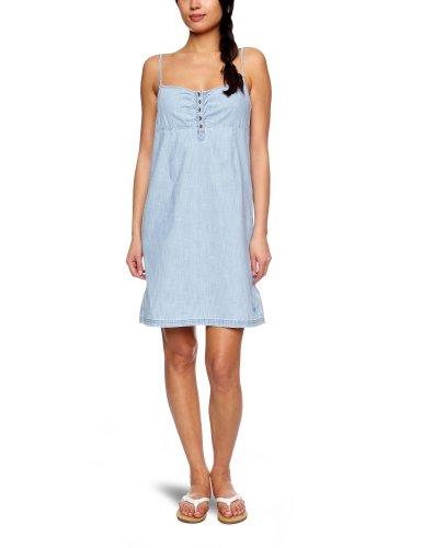 Roxy Sun Day Chambray Halterneck Women's Dress Indigo Blue Wash Small