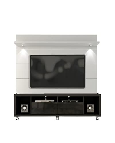 Manhattan Comfort Cabrini TV Stand & Panel 1.8, Black/White