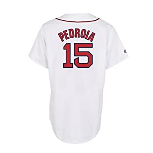 Dustin Pedroia Boston Red Sox Home Replica Jersey by Majestic by Majestic