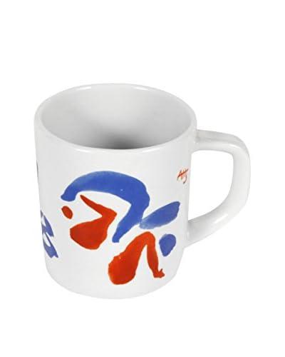 Royal Copenhagen 1998 Annual Mug, White/Red/Blue