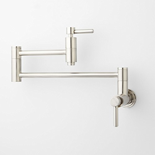 Aquafaucet Brass Kitchen Wall Pot Filler Faucet