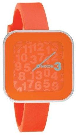 NIXON ROCIO MARMALADE A162877 LADIES ORANGE PLASTIC STAINLESS STEEL CASE WATCH