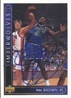Mike Brown Minnesota Timberwolves 1994 Upper Deck Autographed Hand Signed Trading... by Hall+of+Fame+Memorabilia