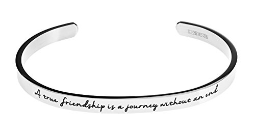 A-true-friendship-is-a-journey-without-an-end-Premium-Stainless-Steel-Cuff-Bangle-Bracelet