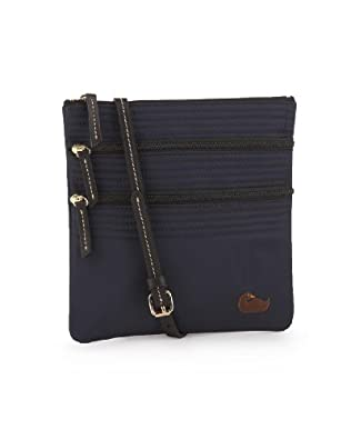 Dooney & Bourke Nylon N/S Triple Zip Shoulder Bag Navy/Black