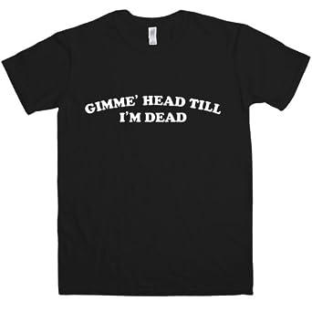 Mens Inspired By Revenge Of The Nerds T Shirt - Gimme Head - Black - Small
