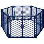 Superyard Classic BLUE 6 panels super bonus set (North States Super Play Yard compare prices)