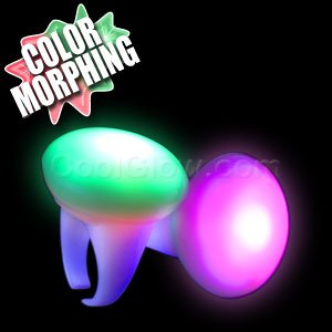 Fun Central I435 LED Light Up Strobing Glow in the Dark Button Rings - Multicolor