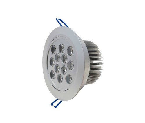 Domire Silvery Led Warm White 12W Recess Downlight Ceiling Lamp Replace 110W Incandescent Bulb Energy Efficient Lights