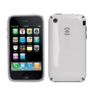Speck Products CandyShell Case for iPhone 3G, 3G S (White/Grey)