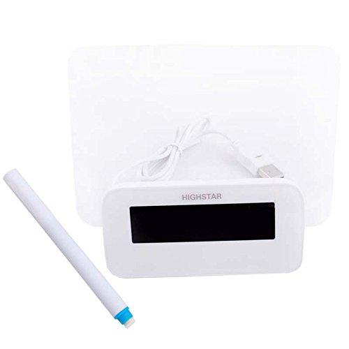 Blue Led Digital Alarm Clock Fluorescent Message Board 4 Port Usb Hub Calendar