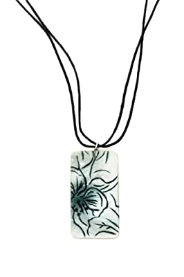 Fair Trade Capiz Necklace or Earrings - Handpainted on Sustainable Capiz Shell