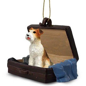 Wire Fox Terrier Traveling Companion Dog Ornament