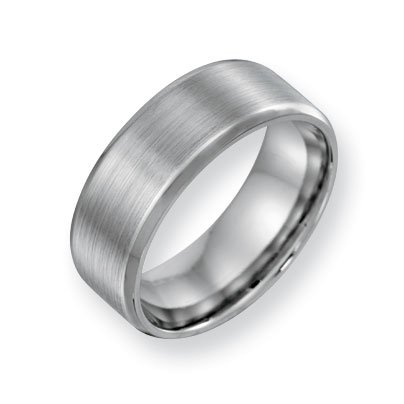 Cobalt Chromium All Satin 8mm Band Ring - Size 10.5 - JewelryWeb