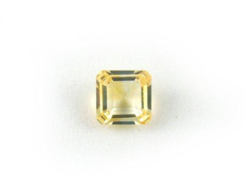 LX0035 Citrine Square Shape Unset Loose Natural Gemstone