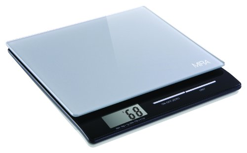 MIRA Glass Platform Digital Kitchen Scale with Large Display