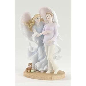 """Awaiting A Miracle"" Angel - Stone Resin"