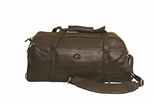 NCAA Georgia Bulldogs Marble Canyon Leather Sport Duffel Bag by Canyon Outback