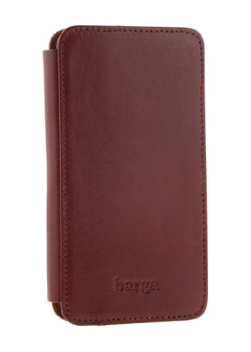 Special Sale Barga Cases Genuine Leather Wallet Case for Iphone 5 / 5S , Vegetal - Chery