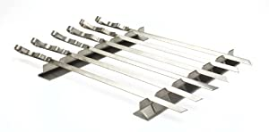 """Best of Barbecue Stainless Steel Kabob Rack Set with Six 17"""" Skewers - SR8816"""