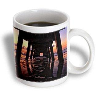 Danita Delimont - Joanne Wells - Beaches - Usa, Georgia, Tybee Island, Pier At Tybee Island Beach At Sunrise. - 11Oz Mug (Mug_191111_1)