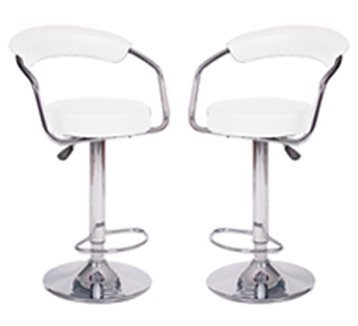 Baxton Studio Adjustable Swivel Modern Contemporary Bar Stool (Set of 2)