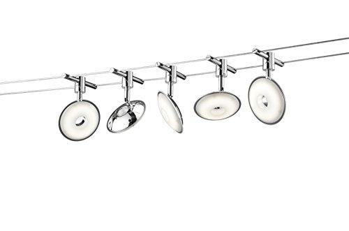 Trio Leuchten 775910506 - Sistema LED a filo, modello Pilato, colore titanio, 500 cm