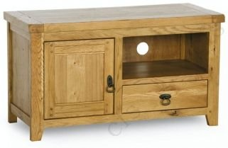 Verona Rustic Solid Oak Small Compact TV Cabinet